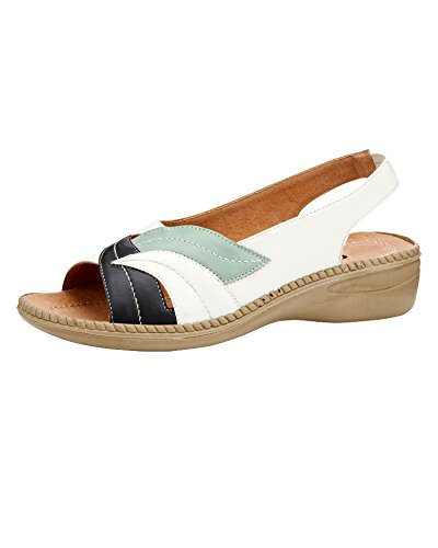 Cotton Traders Flexisole Leaf Sandal Womens Ladies E Fit Ultra-Lightweight Summer Shoes Navy