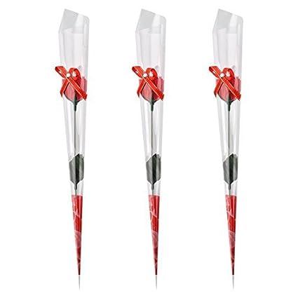 eDealMax Diseño Jabón Regalo del recuerdo Artificial del pétalo del Clavel ramo de la Flor 3pcs