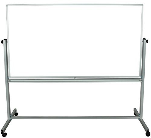 Luxor 72x48 Inch Reversible Whiteboard/Grey Frame by Luxor