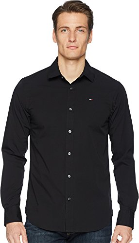 Button Down Shirt Original Stretch, Tommy Black, X-Large ()