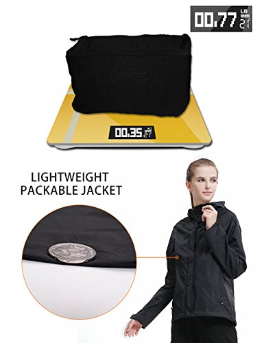 Women Hooded Rain Jacket - Diamond Candy Outdoor Lightweight Waterproof Coat by Diamond Candy (Image #3)