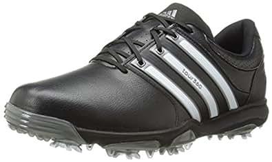 adidas Men's Tour360 X Cleated Golf Shoe,Black/Running White/Dark Silver,7 W US