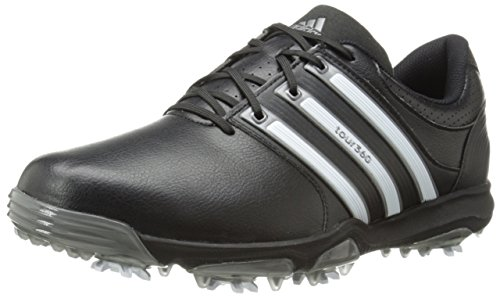 adidas Men's Tour 360 X, Black/Running White/Dark Silver, 10