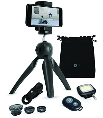 Case Logic Smartphone Photography Kit Tripod Lenses Flash Remote Shutter Pouch Black
