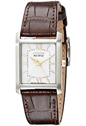 "Citizen Women's EP5914-07A ""Eco-Drive"" Stainless Steel Watch with Brown Genuine Leather Band"