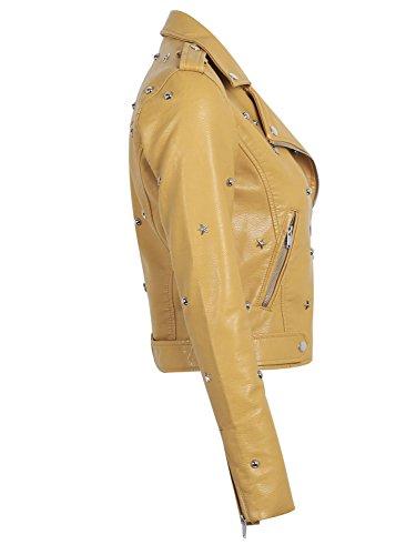 Simplee Apparel - Chaqueta - para mujer amarillo