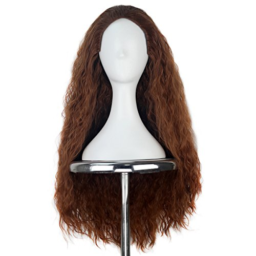 Miss U Hair Synthetic Women 80cm Long Curly Brown Hair Movie Cosplay Costume Wig A05 -