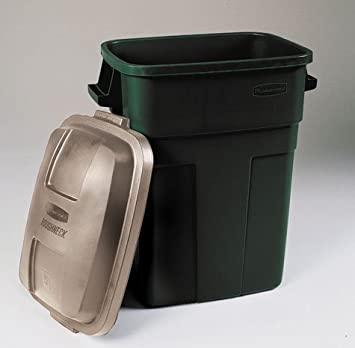 rubbermaid 31 gal trash can e