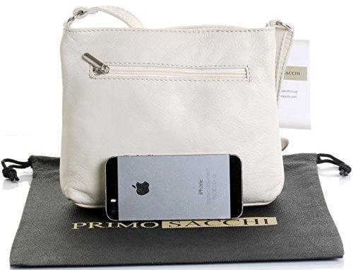 Strap Primo Body Leather Made Hand Shoulder Italian Cream Soft Bag Small Sacchi Handbag Adjustable Cross rqwxrRt8v