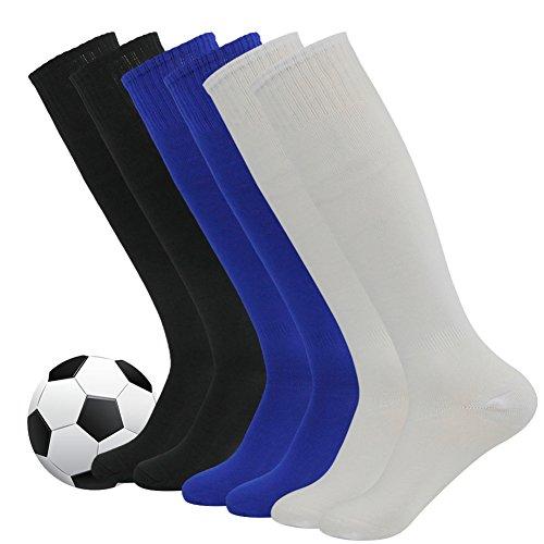 Soccer Socks,Fasoar Unisex Team Sports Football Long Tube Socks Pack of 2,6,10