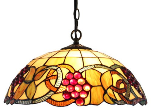 Amora Lighting AM1040HL16 Tiffany Style Colorful Hanging Pendant Ceiling Lamp - 16