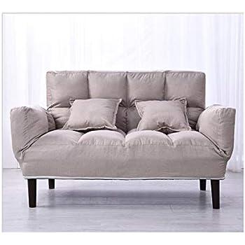Amazon.com: Isa - Sofá con dos almohadas de tela suave y ...