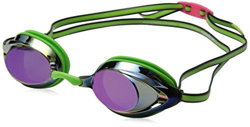 Speedo Vanquisher 2.0 Mirrored Goggles, Key Lime, One - Goggle Shop