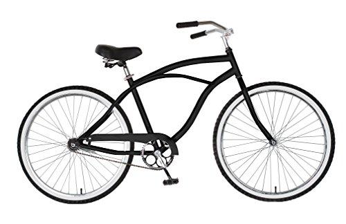 Cycle Force Cruiser Bike, 26 inch Wheels, 18 inch Frame, Men's Bike, Black, Blue, Pink, Red, Silver, White