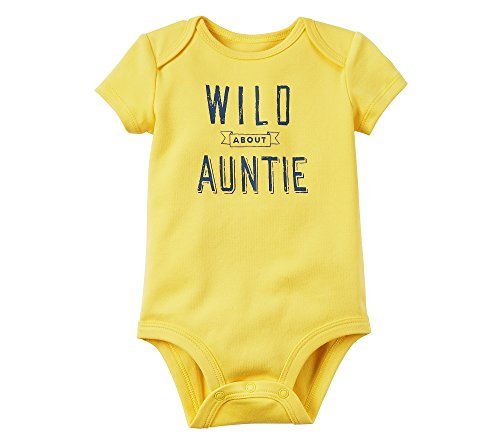Carters Baby Girls Wild About Auntie Bodysuit 9 Months Yellow