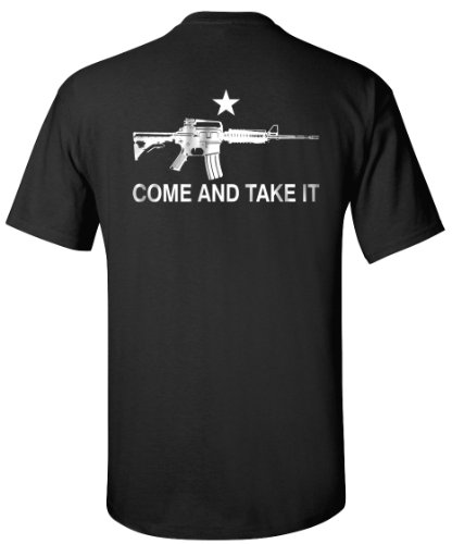 Black AR-15 Come and Take It T-Shirt - XL