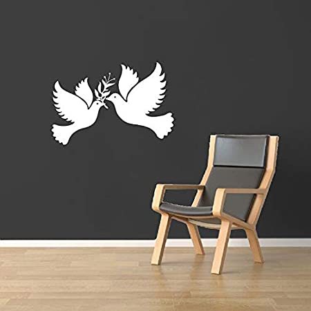 hllhpc Peace Dove Vinilo Pegatinas de Pared Libertad Aves Tatuajes ...