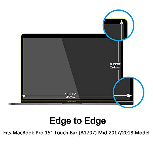 Pavoscreen Blocking Blue Light Screen Protector for MacBook Pro 15'' Touch Bar (A1707) Mid 2017/2018 Model,Protect Eyes Bubble Free Full Coverage MacBook Pro 15'' Screen Filter by Pavoscreen (Image #1)