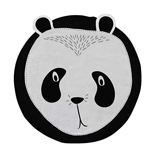Cotton Baby Infant Play Mats Kids Crawling Carpet Floor Rug Baby Bedding Rabbit Blanket Cotton Game Pad Children Room Decor 90CM (Panda) For Sale