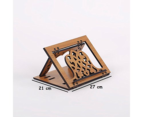 Serra Office Desktop Carved Wooden Tablet Lectern by Serra Office