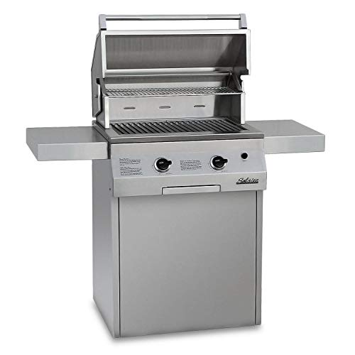 Solaire 27-Inch Deluxe Infrared Propane Grill on Square Cart with Rotisserie Kit, Stainless - 27 000 Btu Propane