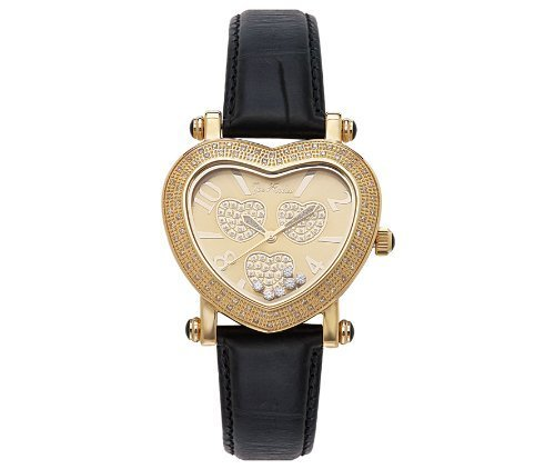 Joe Rodeo Moving Heart Women's Watch (0.75 ct.tw.) - gold