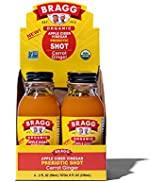 Bragg Organic Apple Cider Vinegar Shot with Carrot Ginger – 2 Oz ACV Shot – USDA Certified Organi...