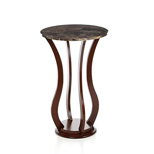 ings Accent Marble Top Plant Stand (Round Top Plant Stand)