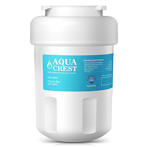 AQUACREST MWF Replacement for GE MWF SmartWater, MWFA, MWFP, GWF, GWFA, Kenmore 469991 Refrigerator Water Filter