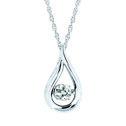 Brilliance In Motion Sterling Silver Birthstone Pendant Necklace, 18""