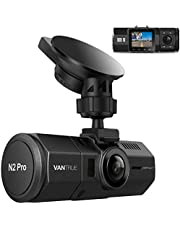 Uber 1080P Dual Dash Cam, Vantrue N2 Pro 2.5K 1440P Front and Rear Dash Camera, Accident Car Dash Camera with Infrared Night Vision, Near 360° Dash Cam Front and Inside with 24Hr Motion Detection Parking Mode, G-Sensor, Support 256GB Max for Trucks, Uber, SUV, Pickup, BMW, Honda, Toyota, Jeep
