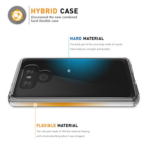 LG G6 Hülle - BEZ® LG G6 Handyhülle Transparent Hybrid Crystal Clear Case Rückschale und Durchsichtige TPU-Bumper Schutzhülle - Klare
