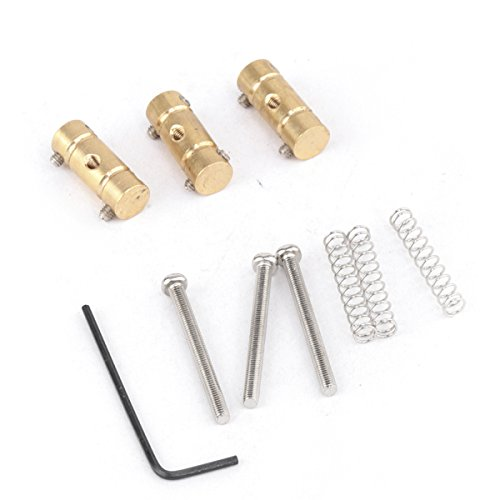 Musiclily Pro 54mm Brass Vintage Style Compensated Telecaster Bridge Saddle Set for Fender American Tele Replacement (Pack of 3) by Musiclily (Image #2)