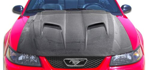 1999-2004 Ford Mustang Carbon Creations Mach 2 Hood - 1 Piece