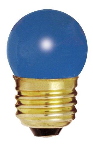 - Satco S3608 7.5 Watt S11 Incandescent 120 Volt Medium Base Light Bulb, Ceramic Blue