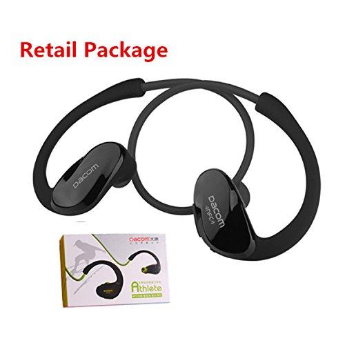 Athlete NFC Cordless Ear Hook Sport Bluetooth 4.1 earpiece Sweatproof Mini Wireless Hifi Bass Headphones With Microphone Black retail package