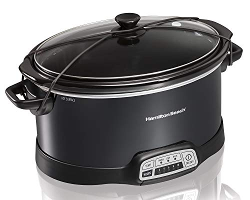 Hamilton Beach Programmable Slow Cooker, 7-Quart with Lid Latch Strap, Black (33474) by Hamilton Beach (Image #4)