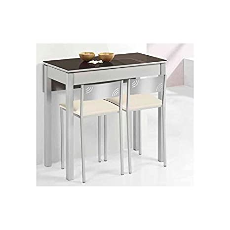 Amuebla 803. Mesa DE Cocina DE 80 X 40 CM. Extensible con UN ...