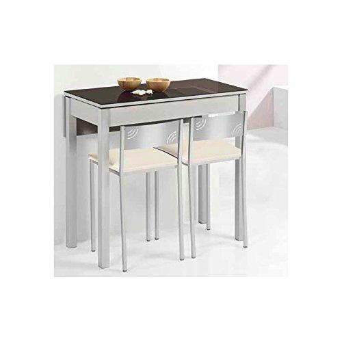 Amuebla 804. Mesa DE Cocina DE 90 X 50 CM. Extensible con UN ala CAÍDA.