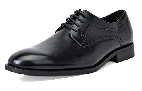 Bruno Marc Men's Waltz-2 Black Genuine Leather Dress Oxfords Shoes Size 12 M (Black Genuine Leather Shoes)
