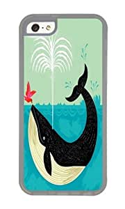 Apple Iphone 5C Case,WENJORS Uncommon The Bird and The Whale Soft Case Protective Shell Cell Phone Cover For Apple Iphone 5C - TPU Transparent