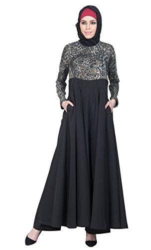 Gr Schwarz Essence East Durchgehend Kleid Damen xxxxxl Schwarz Z6Ig4WFW