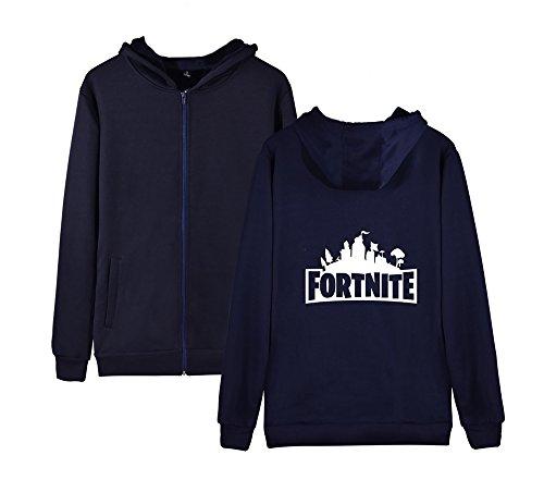 Per Cappotto Sweatshirts Blue2 Unisex Aivosen Dark E Outwear Felpa Donne Pile Zip Allentato Uomini Casual Invernale Con Fortnite 87A8xPR