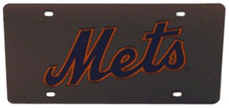 (MLB New York Mets Laser-Cut Auto Tag (Black))