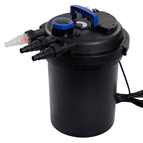 Pond Pressure Bio Filter 4000GAL W/ 13W UV Sterilizer Light 10000L Koi Water TKT-11 by TKT-11