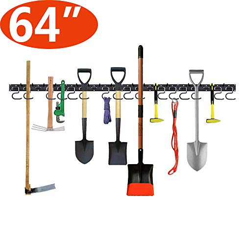 Garage Tool Organizer Wall Mount 64 Inch,Adjustable Storage System,Wall Holders for Tools,Wall Mount Tool Organizer,Garage Organizer,Garden Tool Organizer,Garage Storage