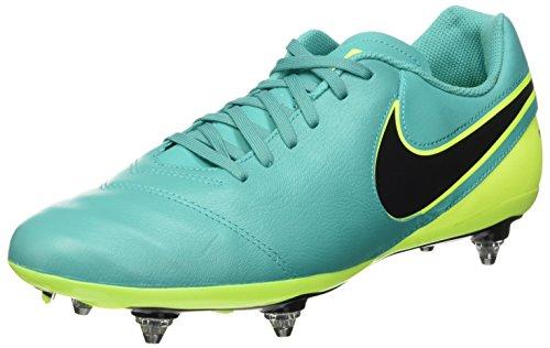 Nike Tiempo Genio Ii Leather Sg, Botas de Fútbol para Hombre Verde (Clear Jade / Black-Volt)