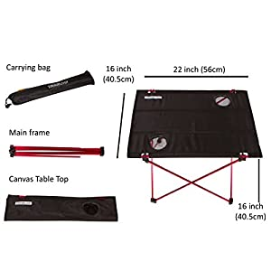 Trekology Foldable Camping Picnic Tables - Portable Compact Lightweight Folding Roll-Top Table in a Bag - Small, Light, and Easy to Carry for Camp, Beach, Outdoor