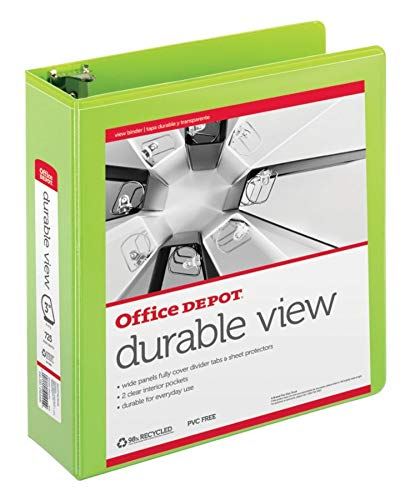 - Office Depot Brand Durable D-Ring View Binder, 3
