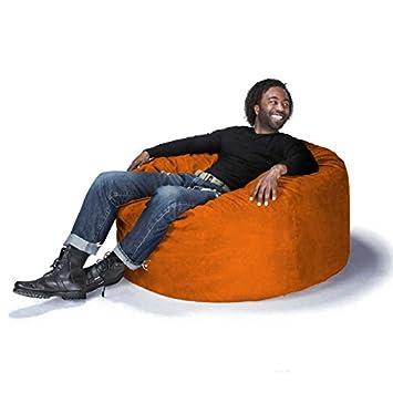 Jaxx Classic Saxx 4 ft Bean Bag, Pumpkin Microsuede